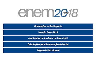 Inscrição Enem 2018