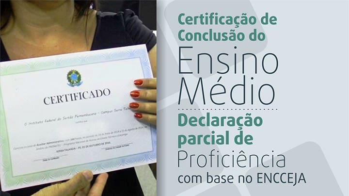 Encceja 2018 - Certificação x Declaração de Proficiência