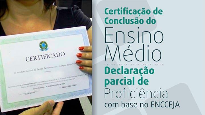 certificado parcial encceja 2018