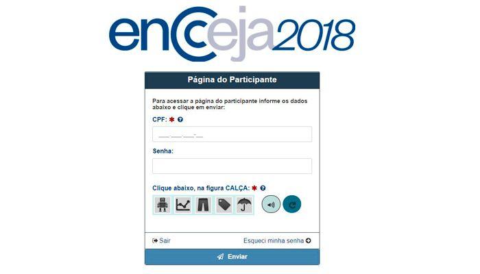 encceja página do participante