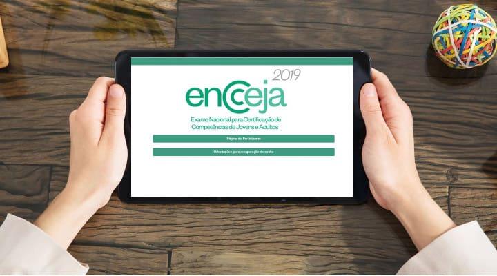 página do participante inep tutorial de inscrição encceja 2019