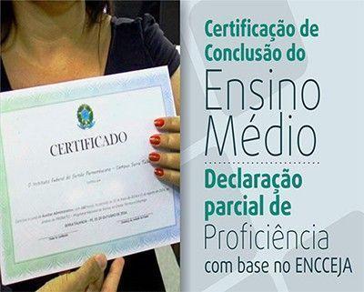 Certificado Parcial de Proficiência Encceja