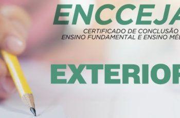 Inscrições para o Encceja Exterior 2019