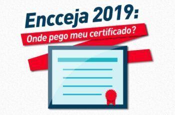 Onde pegar o meu certificado do Encceja 2019?