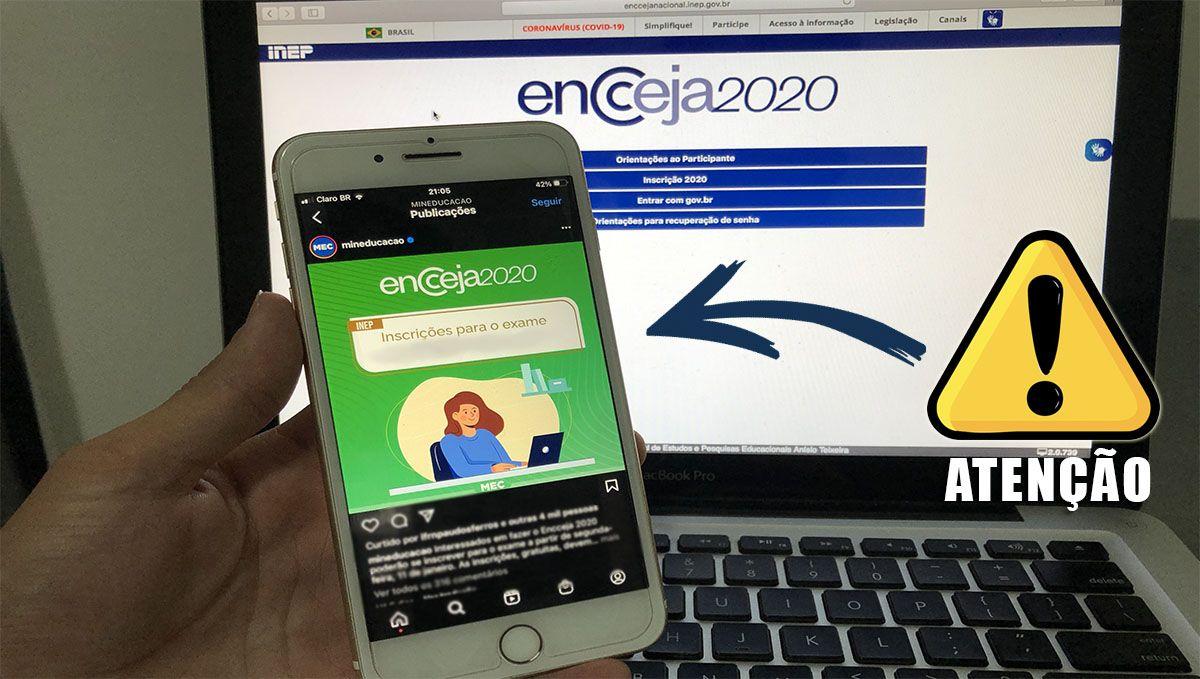 ATENÇÃO! INSCRIÇÃO NÃO CONFIRMADA ENCCEJA 2020 / 2021