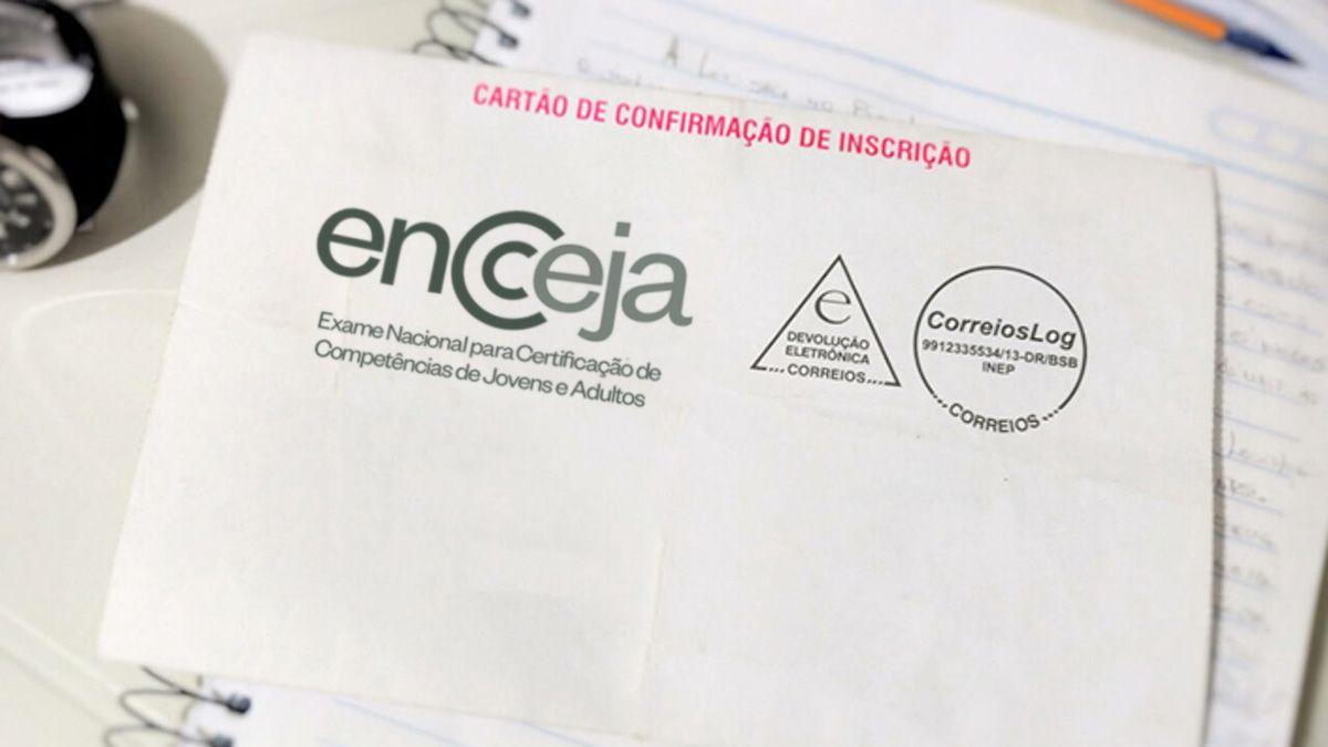 Cartão de CONFIRMAÇÃO ENCCEJA 2020 / 2021